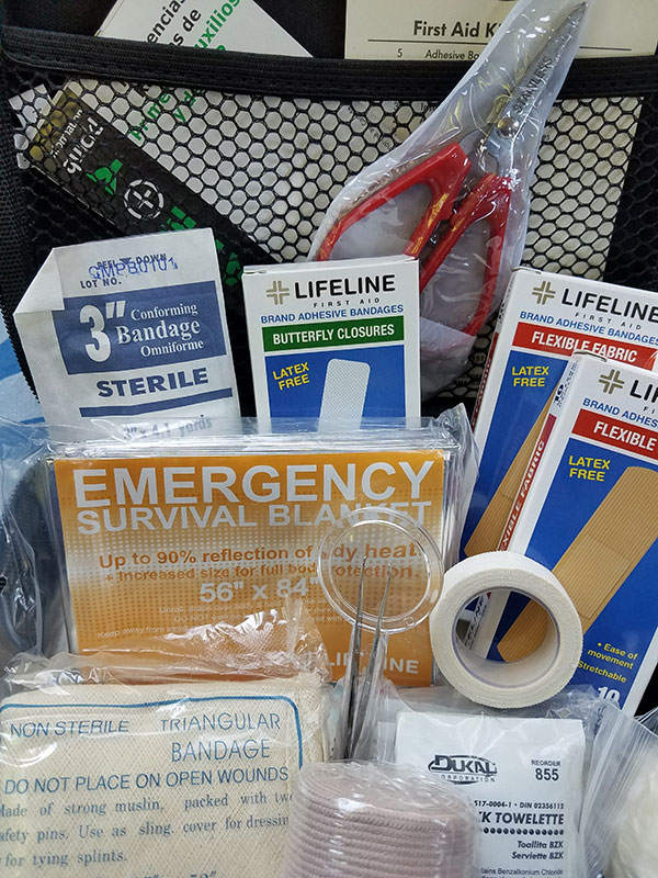 Make sure to include a first aid kit like this in your roadside emergency kit.